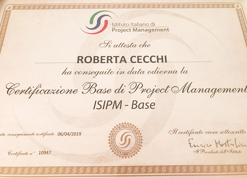certificazione project manager ISIPM